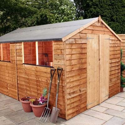 10x8 Windsor Overlap Apex Workshop Shed