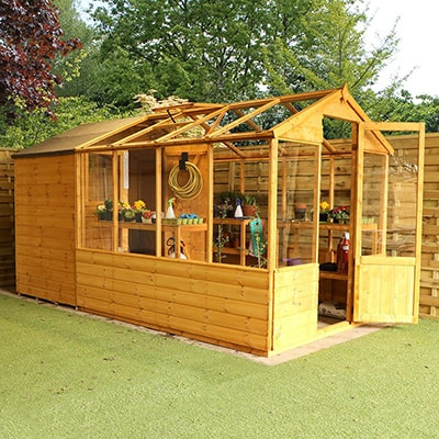 Windsor Traditional Apex Greenhouse Combi Shed