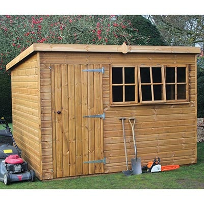 14x8 Traditional Heavy Pent Shed