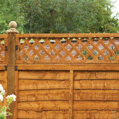 180 x 30cm Diamond Lattice Fence Topper