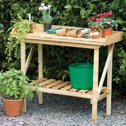 Forest Garden Potting Bench Table from Shedstore