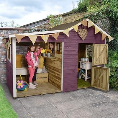 8x4 Shire Dixie Duo Playhouse
