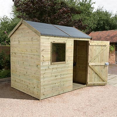 8x6 Champion Heavy Duty Reverse Apex Single Door Shed