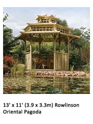 13' x 11' (3.9 x 3.3m) Rowlinson Oriental Pagoda