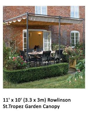11' x 10' (3.3 x 3m) Rowlinson St.Tropez Garden Canopy