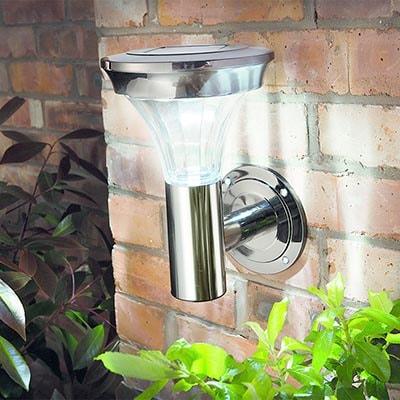 Solar Motion Sensor Black Nickel Wall Light