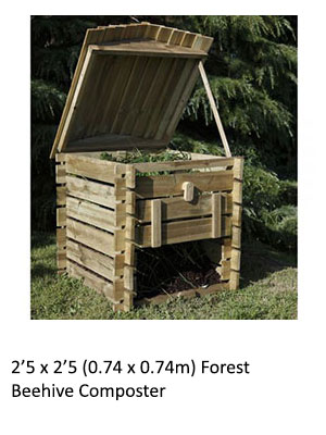 2'5 x 2'5 Forest Beehive Composter