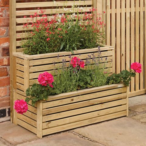 a contemporary tiered planter