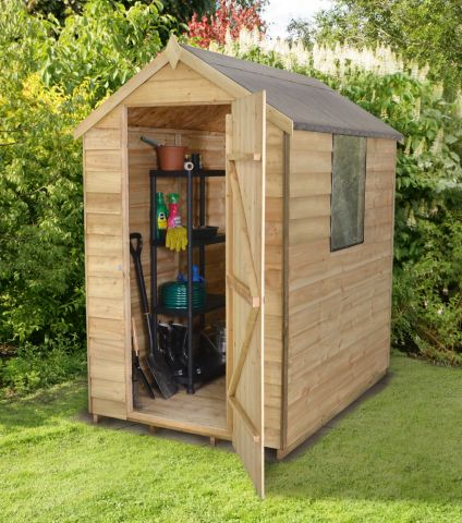 a 6x4 overlap shed