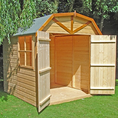 7x7 Shire Barn Double Door Garden Shed