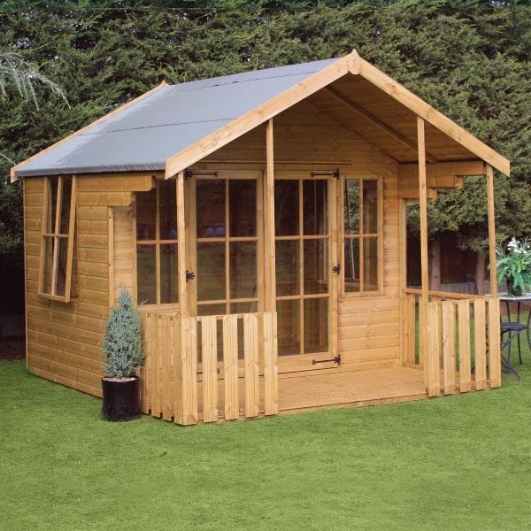 Image of 10x10 Traditional Woodstock Wooden Summerhouse With Veranda