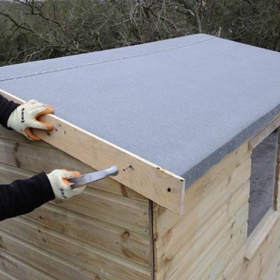 how to felt a shed roof shed felt shedstore. Black Bedroom Furniture Sets. Home Design Ideas