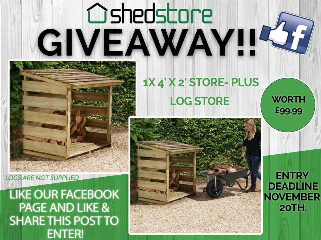 4' x 2' Store-Plus Log Store Giveaway