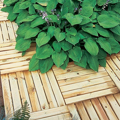 Forest Ridged Deck Tile (4 Pack)