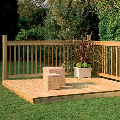 8x8 Forest Patio Deck Kit