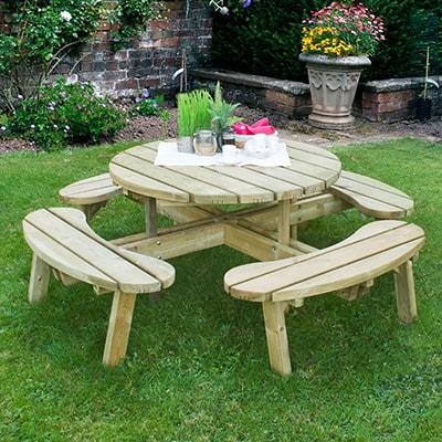 1.8m Forest Circular Picnic Table
