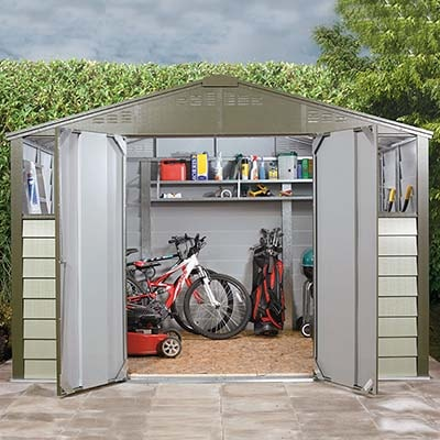 10x8 Trimetals Titan 108 Metal Shed with windows