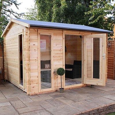 11x10 Windsor Kielder 19mm Log Cabin