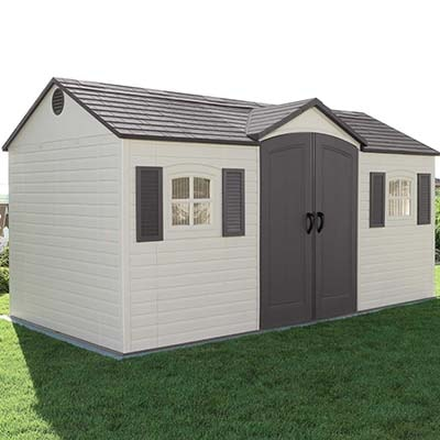 15x8 Lifetime Heavy Duty Plastic Shed