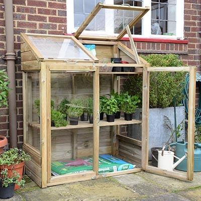 4x2 Forest Wooden Mini Greenhouse