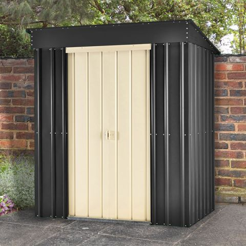 5'x3' Lotus Pent Slate Grey Metal Shed