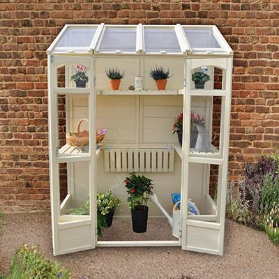 5x2 Forest Cofton Wooden Wall Greenhouse