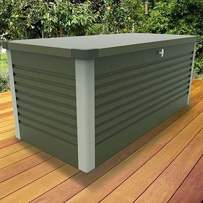 6x2 Trimetals Green Protect.a.box Metal Garden Storage Box