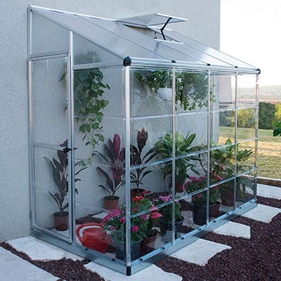 8x4 Palram Lean to Grow House Silver Hybrid
