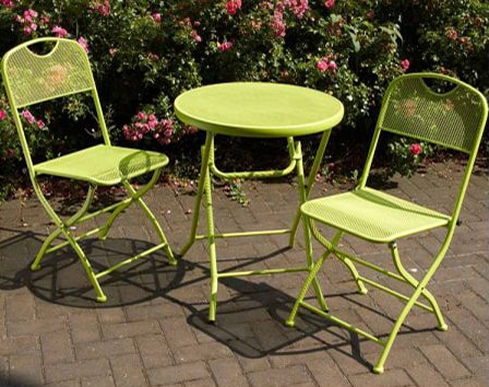 Café Espresso Apple Green 3pc Bistro Set-