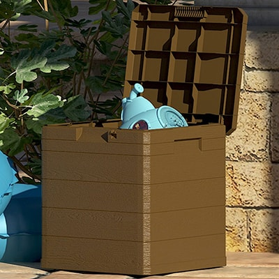 Toomax 90L wood effect outdoor storage box