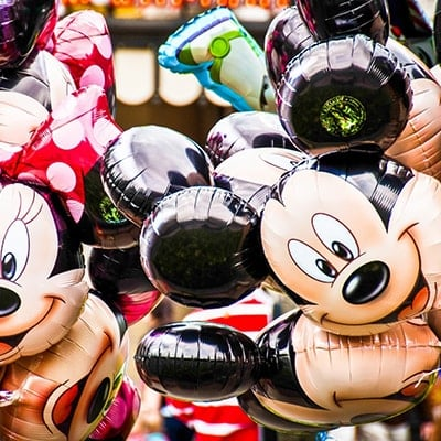 Mickey and Minnie helium balloons