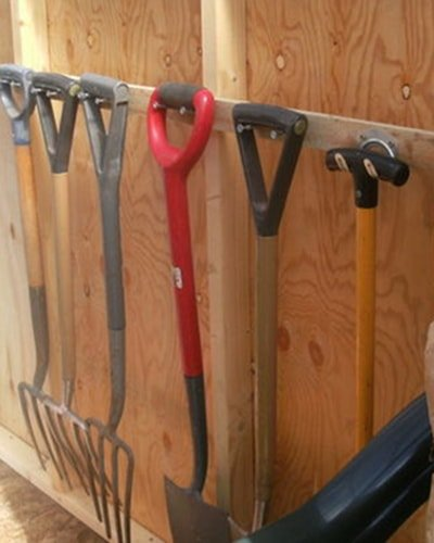 A few nails to hang garden tools