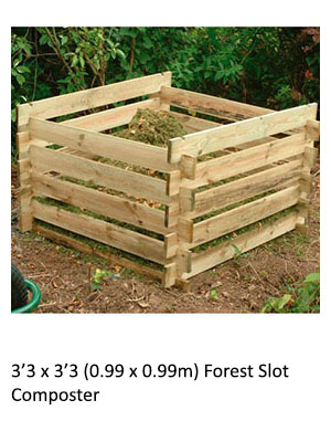 3'3 x 3'3 Forest Slot Composter