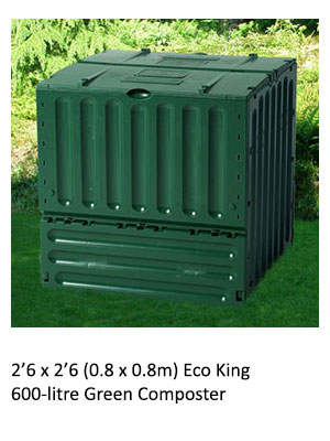 2'6 x 2'6 Eco King 600-litre Green Composter
