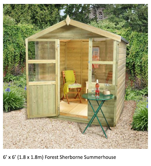6' x 6' (1.8 x 1.8m) Forest Sherborne Summerhouse