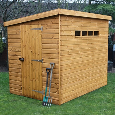 Traditional Pent Security Shed