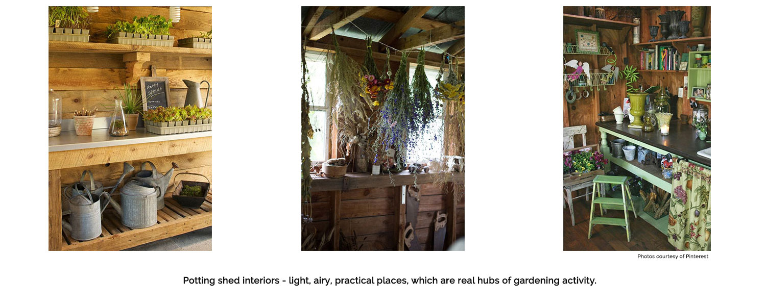 Some beautiful potting shed interiors