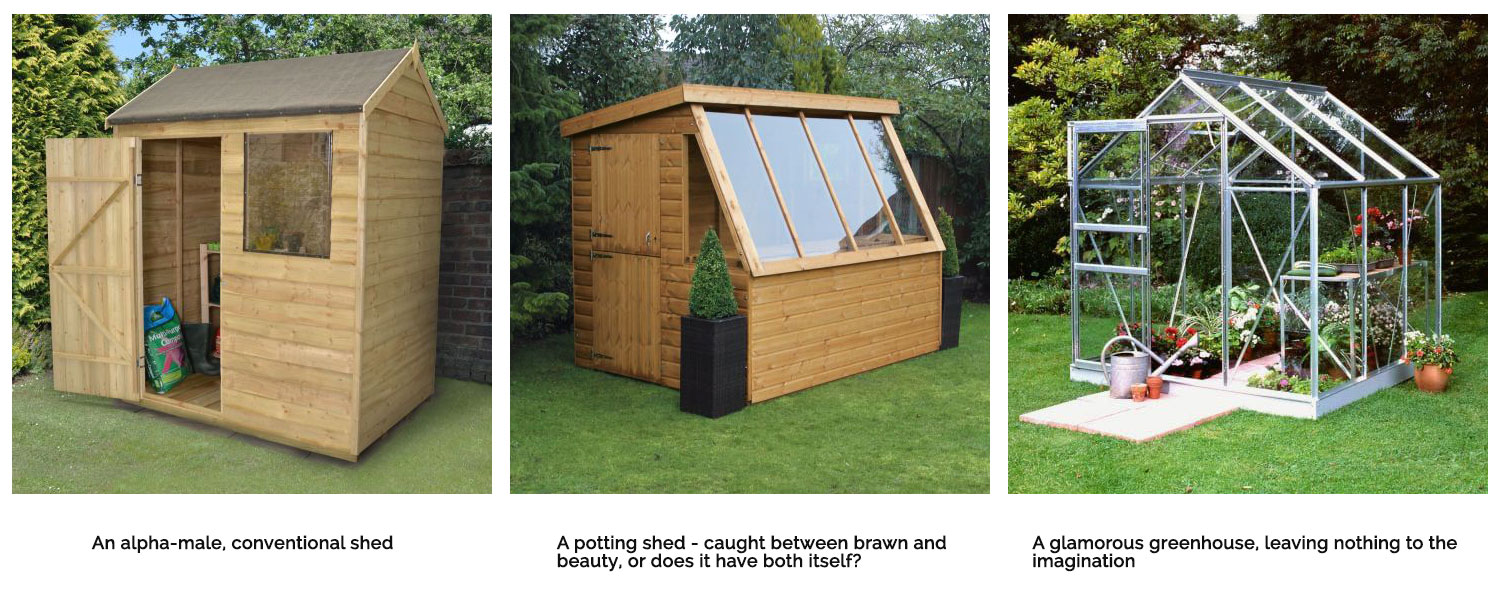 Potting sheds vs conventional sheds and greenhouses